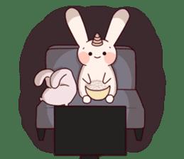 Little Unicorn Bunny 2 sticker #8020476