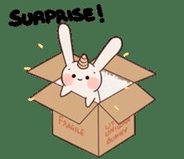 Little Unicorn Bunny 2 sticker #8020483