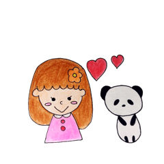 Girl and sometimes panda.