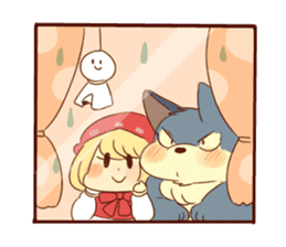 Little Red Riding Hood and wolf! sticker #8026938
