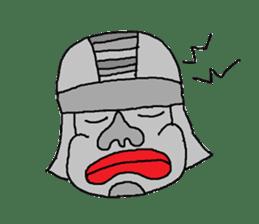 Big Head,Ormeca and Tall,Toltec culture sticker #8030205