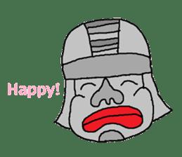 Big Head,Ormeca and Tall,Toltec culture sticker #8030208