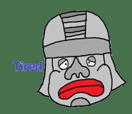 Big Head,Ormeca and Tall,Toltec culture sticker #8030210