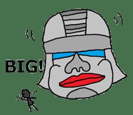Big Head,Ormeca and Tall,Toltec culture sticker #8030217