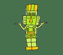 Big Head,Ormeca and Tall,Toltec culture sticker #8030219