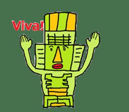 Big Head,Ormeca and Tall,Toltec culture sticker #8030222