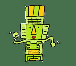 Big Head,Ormeca and Tall,Toltec culture sticker #8030225