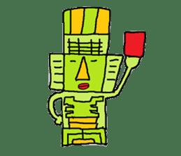 Big Head,Ormeca and Tall,Toltec culture sticker #8030226