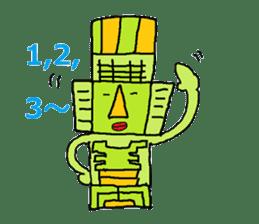 Big Head,Ormeca and Tall,Toltec culture sticker #8030230