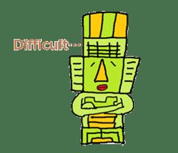 Big Head,Ormeca and Tall,Toltec culture sticker #8030232