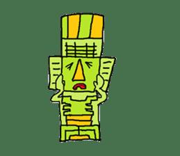 Big Head,Ormeca and Tall,Toltec culture sticker #8030234