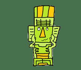Big Head,Ormeca and Tall,Toltec culture sticker #8030235