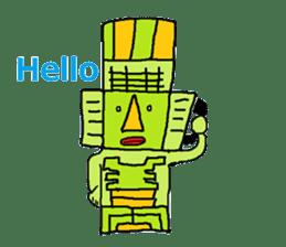 Big Head,Ormeca and Tall,Toltec culture sticker #8030236
