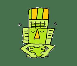 Big Head,Ormeca and Tall,Toltec culture sticker #8030237