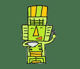 Big Head,Ormeca and Tall,Toltec culture sticker #8030240