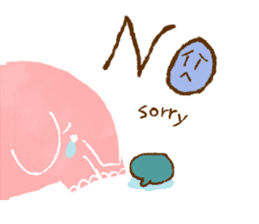 PAO the pink elephant sticker #8036637