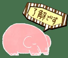 PAO the pink elephant sticker #8036639