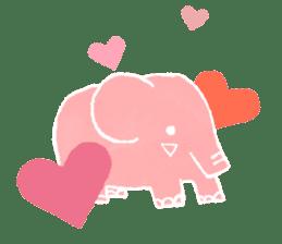 PAO the pink elephant sticker #8036644