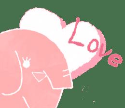 PAO the pink elephant sticker #8036645
