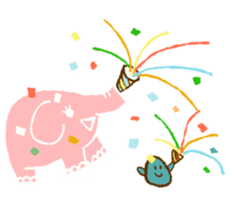 PAO the pink elephant sticker #8036646
