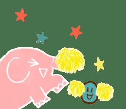 PAO the pink elephant sticker #8036647