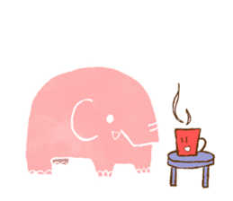 PAO the pink elephant sticker #8036648