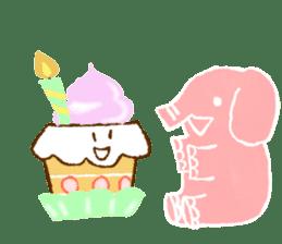 PAO the pink elephant sticker #8036649