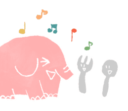 PAO the pink elephant sticker #8036650