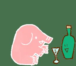 PAO the pink elephant sticker #8036651