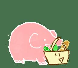 PAO the pink elephant sticker #8036652