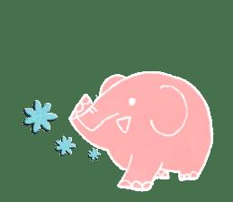 PAO the pink elephant sticker #8036653