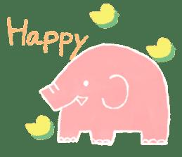 PAO the pink elephant sticker #8036655