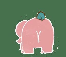 PAO the pink elephant sticker #8036657