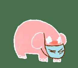 PAO the pink elephant sticker #8036662