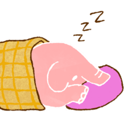 PAO the pink elephant sticker #8036663