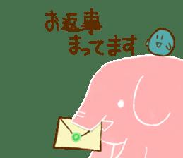 PAO the pink elephant sticker #8036669