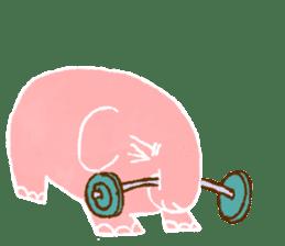 PAO the pink elephant sticker #8036671