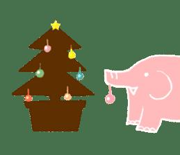 PAO the pink elephant sticker #8036672