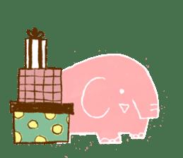 PAO the pink elephant sticker #8036673