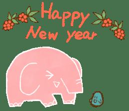 PAO the pink elephant sticker #8036674