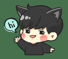 el the black cat sticker #8047092