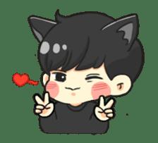 el the black cat sticker #8047095
