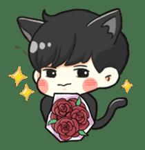 el the black cat sticker #8047096
