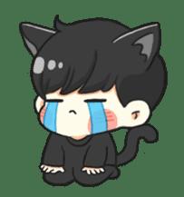 el the black cat sticker #8047099