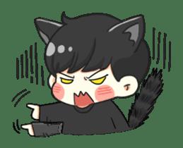 el the black cat sticker #8047104