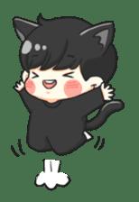 el the black cat sticker #8047106