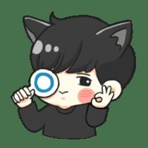 el the black cat sticker #8047108