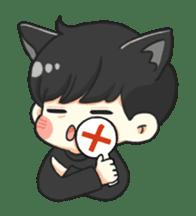 el the black cat sticker #8047109