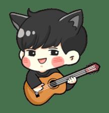 el the black cat sticker #8047112
