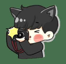 el the black cat sticker #8047113